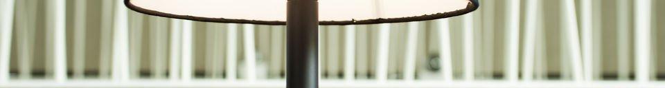 Mise en avant matière Lampe de table Palitö