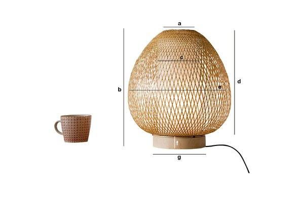 Dimensions du produit Lampe de table Skib