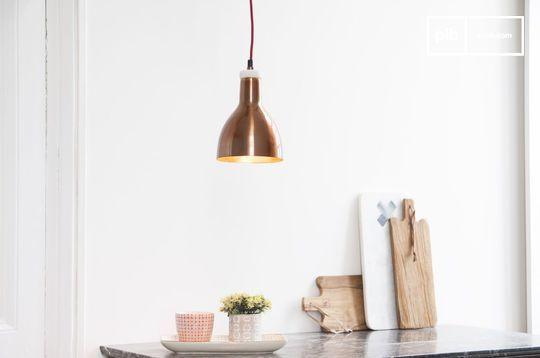 Lampe design cuivrée Bidart
