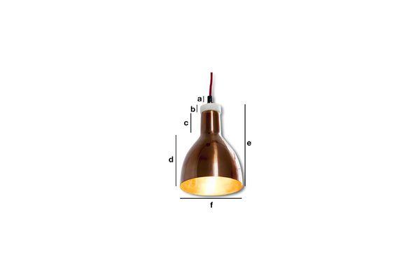 Dimensions du produit Lampe design cuivrée Bidart