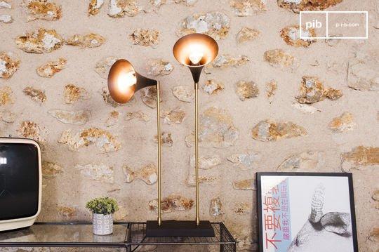 Lampe Double Bläk