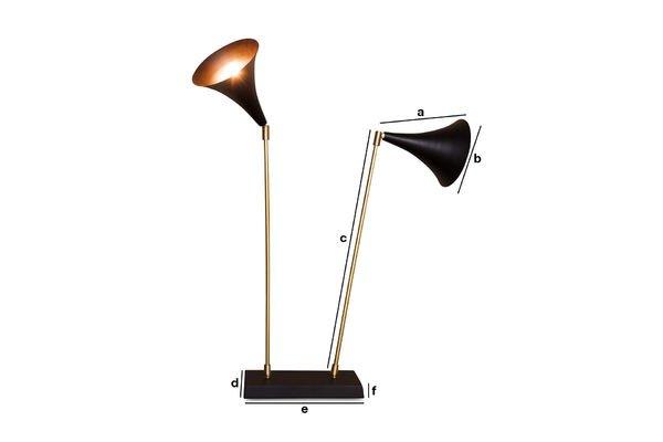 Dimensions du produit Lampe Double Bläk