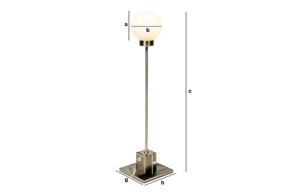 Dimensions du produit Lampe Douglas