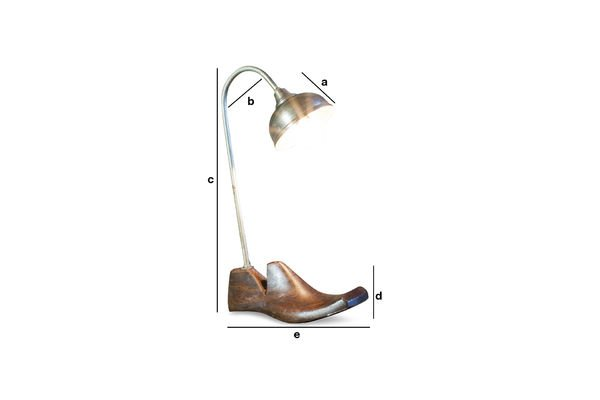 Dimensions du produit Lampe Embauchoir Horma