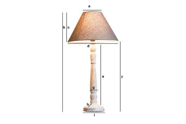 Dimensions du produit Lampe en bois Alix