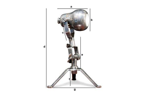 Dimensions du produit Lampe en laiton Spoutnik