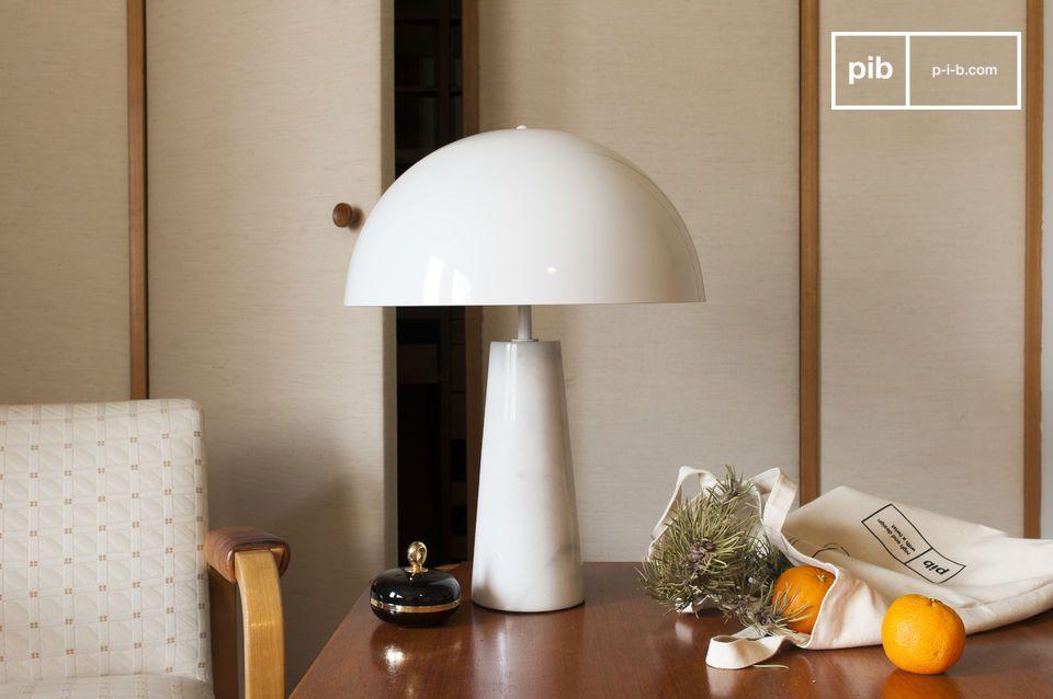 Lampe champignon style vintage pour table ou bureau
