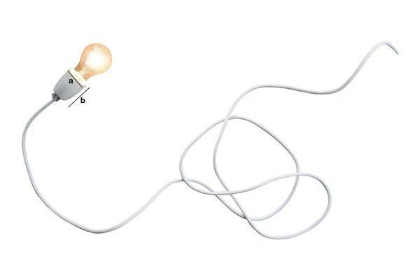 Dimensions du produit Lampe en porcelaine NUD blanche