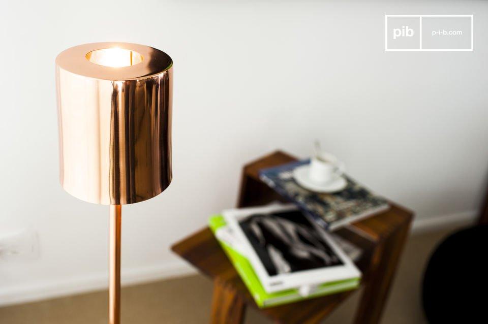 Une lampe design cuivrée à la chaleur scandinave