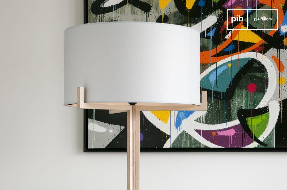 lampe haute sur pied barbara bois clair et sobre pib. Black Bedroom Furniture Sets. Home Design Ideas