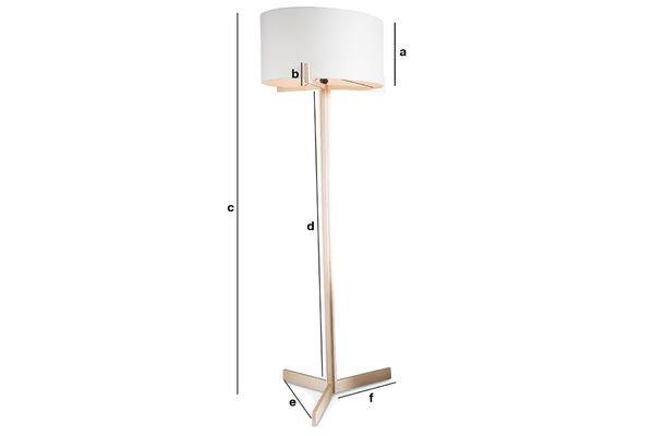 Dimensions du produit Lampe haute sur pied Barbara