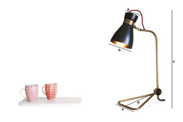 Dimensions du produit Lampe Kelly