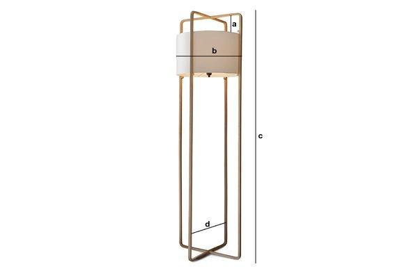 Dimensions du produit Lampe Maspo