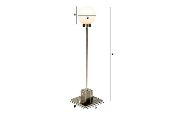 Dimensions du produit Lampe métallique Snowball