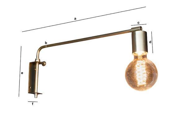 Dimensions du produit Lampe murale Janika