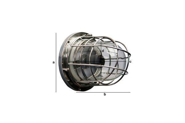 Dimensions du produit Lampe murale paquebot Coursive