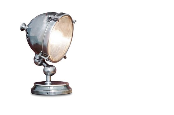Lampe phare argentée Détouré