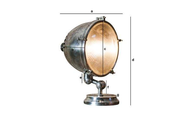 Dimensions du produit Lampe phare argentée XXL