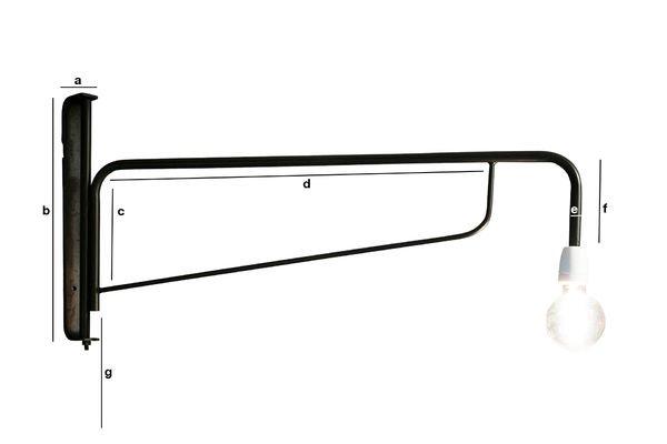 Dimensions du produit Lampe-potence d'atelier