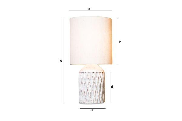 Dimensions du produit Lampe Roméo