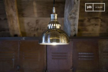 Lampe suspendue argentée Olonne