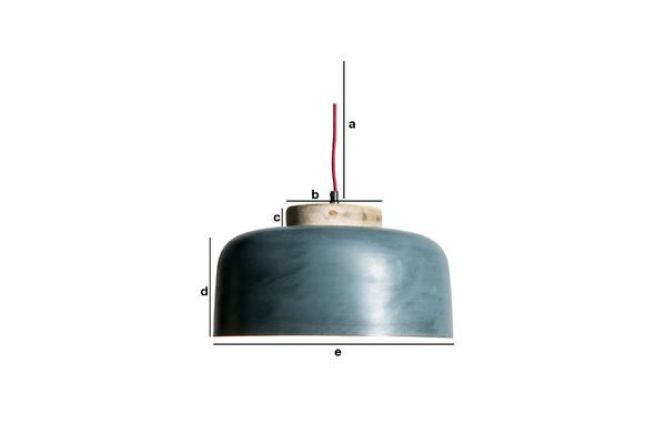 Dimensions du produit Lampe suspendue Blue Mary