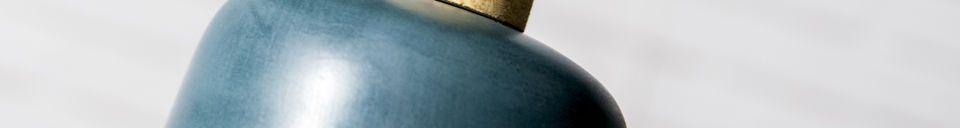 Mise en avant matière Lampe suspendue Blue Terry