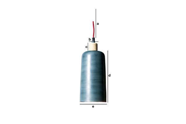 Dimensions du produit Lampe suspendue Blue Terry