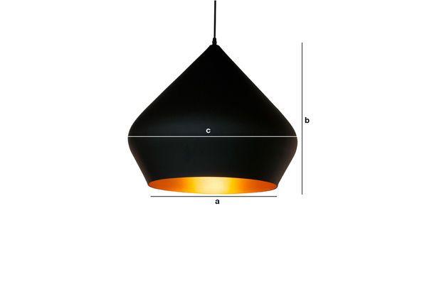 Dimensions du produit Lampe suspendue bombé noire Liselotte