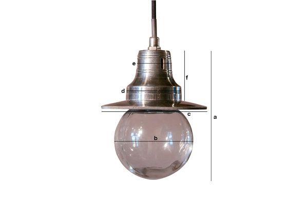 Dimensions du produit Lampe suspendue Charlie