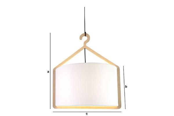 Dimensions du produit Lampe suspendue Cintrée