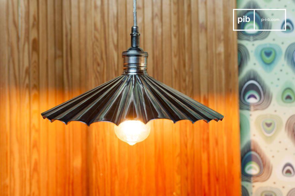 Lampe suspendue en laiton Charlotte