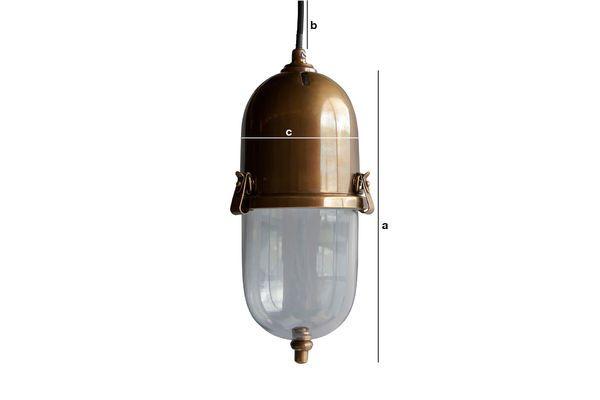 Dimensions du produit Lampe suspendue en laiton Kapsula