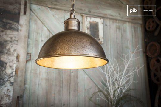 Lampe suspendue en métal ciselé Orient Express