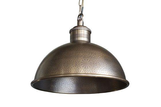 Lampe suspendue en métal ciselé Orient Express Détouré