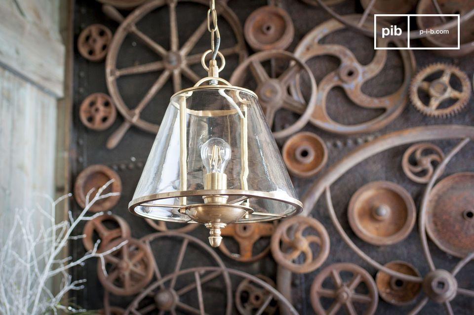Lampe suspendue en verre Lacanau
