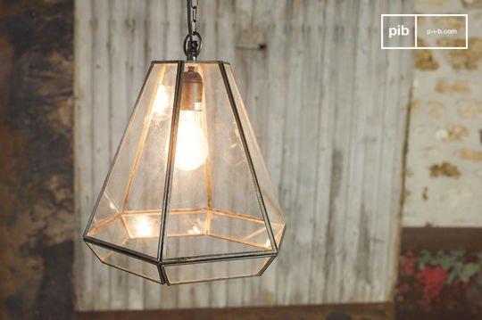 Lampe suspendue en verre Pia