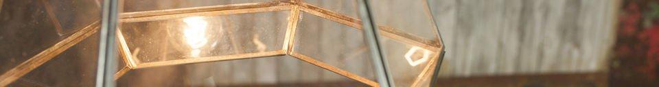 Mise en avant matière Lampe suspendue en verre Pia