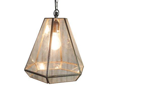 Lampe suspendue en verre Pia Détouré
