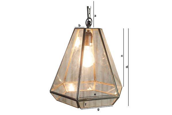 Dimensions du produit Lampe suspendue en verre Pia