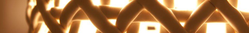 Mise en avant matière Lampe suspendue Hoffen