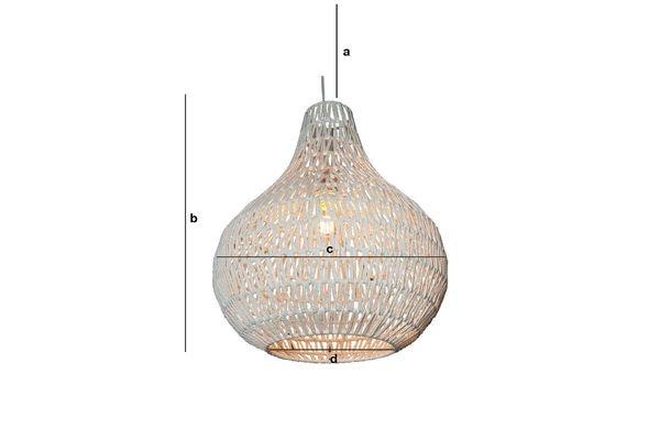 Dimensions du produit Lampe suspendue Ilma Pallot