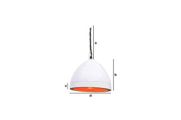 Dimensions du produit Lampe suspendue Këpsta blanche