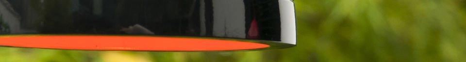Mise en avant matière Lampe suspendue Këpsta noire