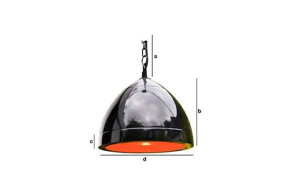 Dimensions du produit Lampe suspendue Këpsta noire