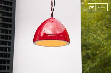 Lampe suspendue Këpsta rouge