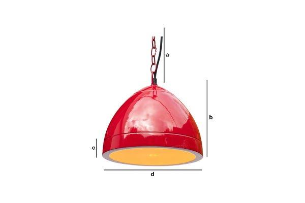 Dimensions du produit Lampe suspendue Këpsta rouge