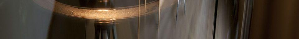 Mise en avant matière Lampe suspendue miroir en verre Elixir