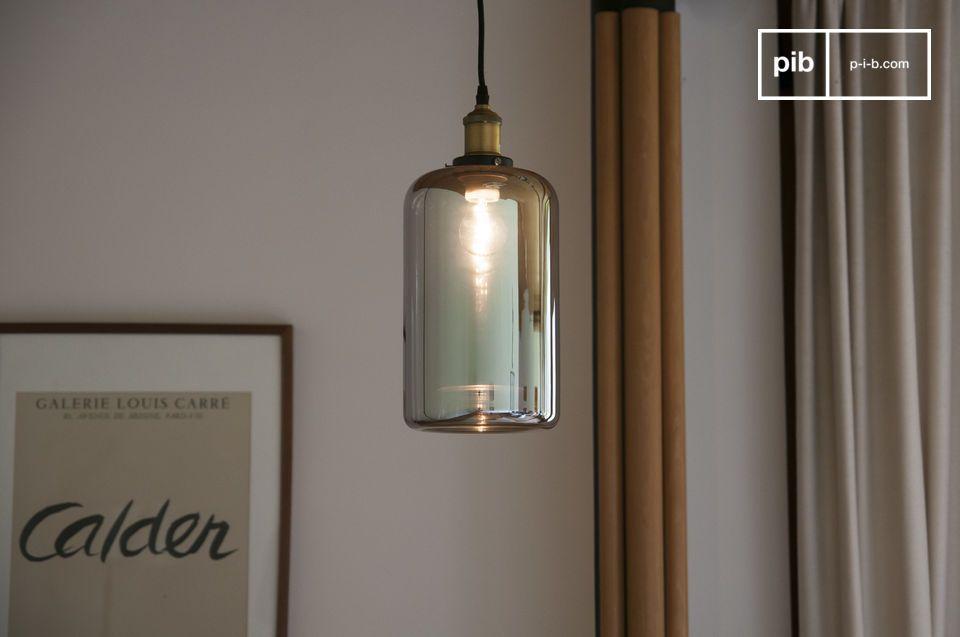 Lampe suspendue miroir en verre Elixir