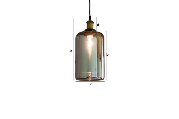 Dimensions du produit Lampe suspendue miroir en verre Elixir